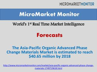 The Asia-Pacific Organic Advanced Phase Change Materials Mar
