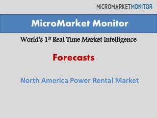 North America Power Rental Market