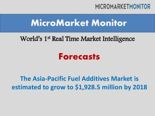 The Asia-Pacific Fuel Additives Market is estimated to grow