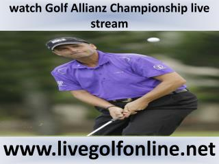 Watch live Allianz Championship Golf