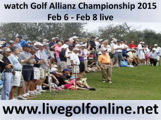 watch Allianz Championship Golf live telecast