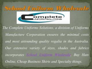 Complete Range of Uniforms Suppliers in Australia