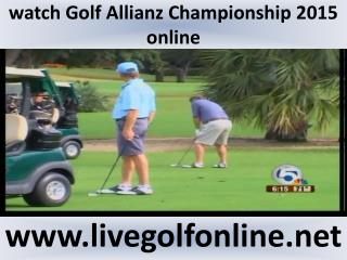 2015 Champions Tour Allianz Championship Golf live streaming