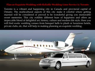 Plan an Exquisite Wedding with Reliable Wedding Limo Service