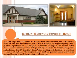 Roblin Funeral Home