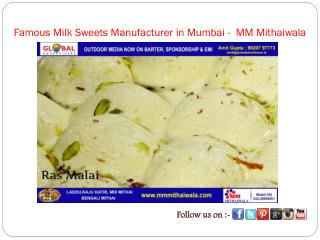 Famous Milk Sweets Manufacturer in Mumbai -  MM Mithaiwala