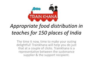 Order online food for train Journey from anywhere in India