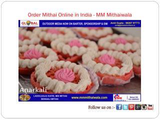Order Mithai Online in India - MM Mithaiwala