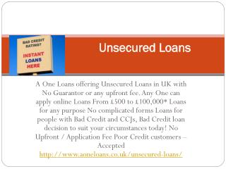 Instant Cash Unemployed Loans UK