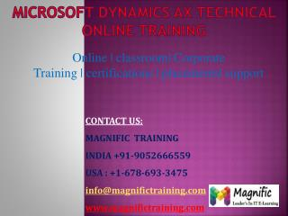 Microsoft dynamics ax technical online training