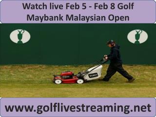 Watch live Maybank Malaysian Open Golf
