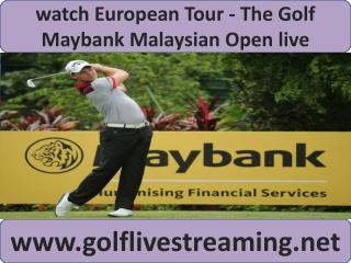 Maybank Malaysian Open Golf 2015 live