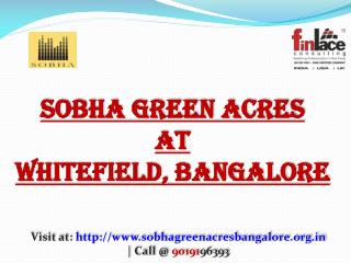 Sobha Pre Launch Bellandur Green Acres