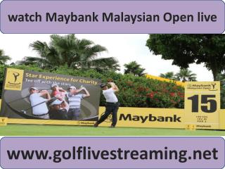 Maybank Malaysian Open Golf 2015 live streaming