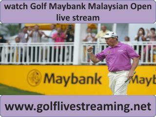 watch Maybank Malaysian Open Golf 2015 live on mac