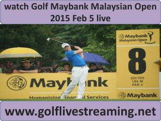watch Maybank Malaysian Open Golf live telecast