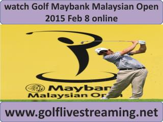 watch Maybank Malaysian Open Golf streaming online