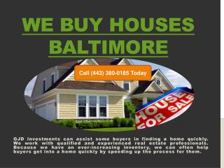 We Buy Houses Fast Baltimore