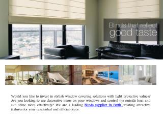 Timber and Aluminium blinds