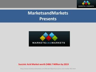 Succinic Acid Market worth $486.7 Million by 2019