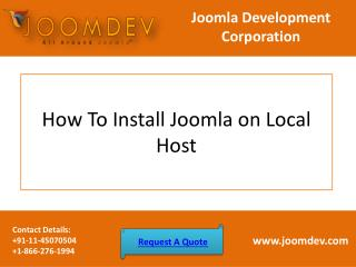 How To Install Joomla on Local Host