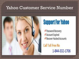 Contact Number 1-844-332-7016 Yahoo Technical Support
