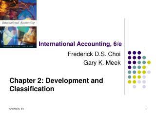 International Accounting, 6