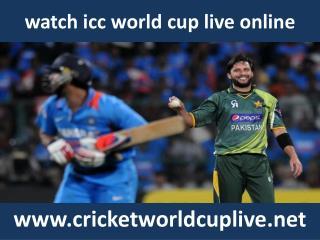 watch cricket icc world cup 2015 stream online