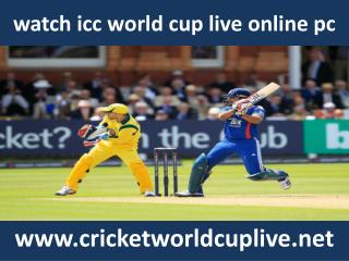 watch 2015 icc world cup tournament live online