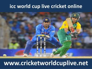 watch icc world cup cricket match stream online