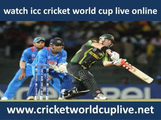 watch icc world cup online