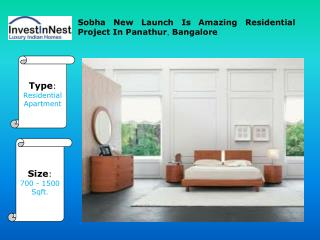 Sobha New Launch By Sobha In Panathur, Bangalore