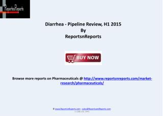Overview of Diarrhea Therapeutic Pipeline
