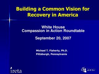 Building a Common Vision for Recovery in America
