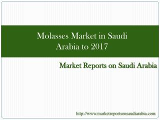 Molasses Market in Saudi Arabia to 2017