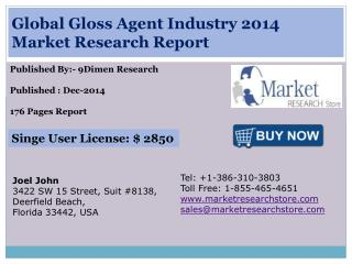 Global Gloss Agent Industry 2014 Market Research Report