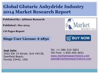 Global Glutaric Anhydride Industry 2014 Market Research Repo