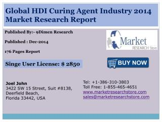 Global HDI Curing Agent Industry 2014 Market Research Report