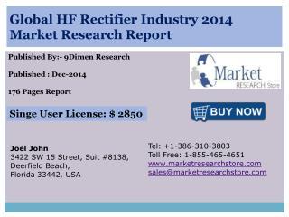 Global HF Rectifier Industry 2014 Market Research Report