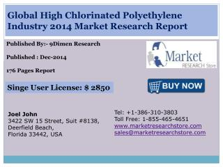 Global High Chlorinated Polyethylene Industry 2014 Market Re