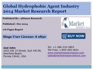 Global Hydrophobic Agent Industry 2014 Market Research Repor