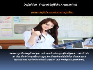 Freiverkäufliche Arzneimittel Definition