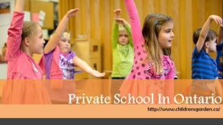 Private School In Ontario