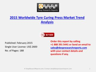 Tyre Curing Press Industry 2015-2020 Global Forecasts