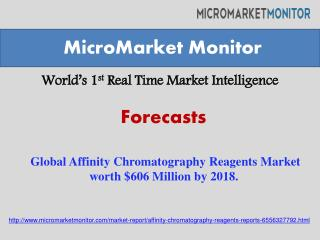 Global Affinity Chromatography Reagents Market worth $606 Mi