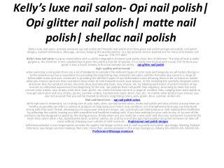 Kelly's luxe nail salon- Opi nail polish| Opi glitter nail p
