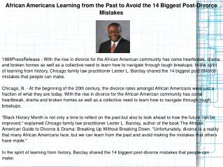 African Americans Learning from the Past to Avoid the 14 Big