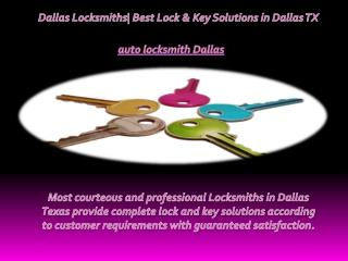 Dallas Locksmiths| Best Lock & Key Solutions in Dallas TX