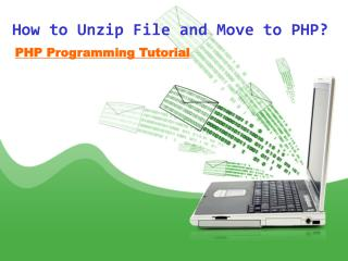 How to Unzip File and Move to PHP?