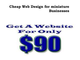 Cheap Web Design for miniature Businesses